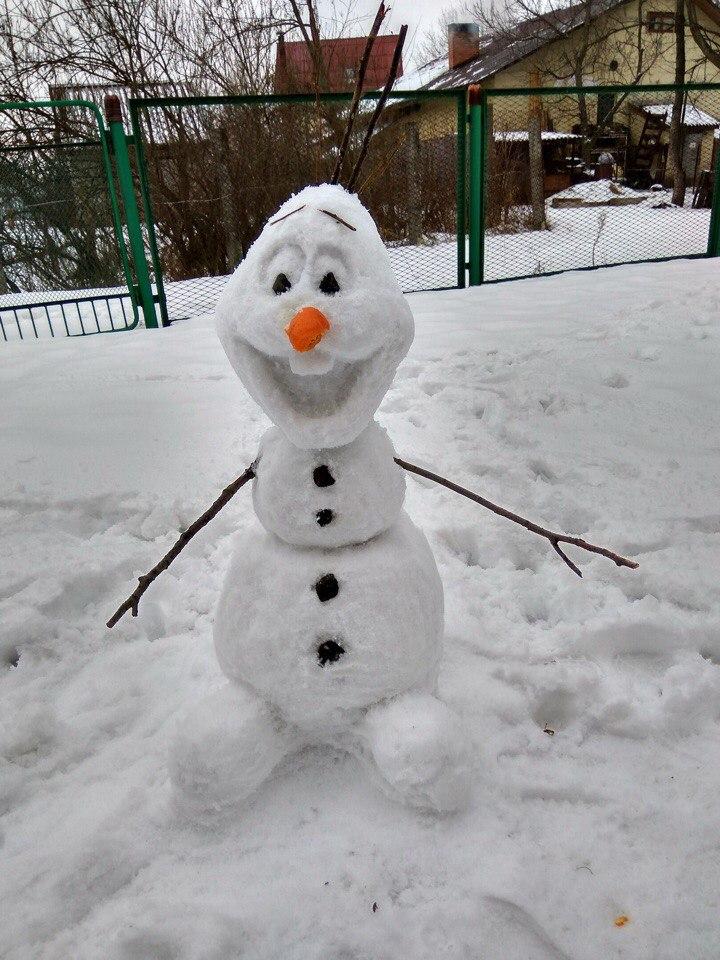 Лепим снеговиков из снега своими руками 310