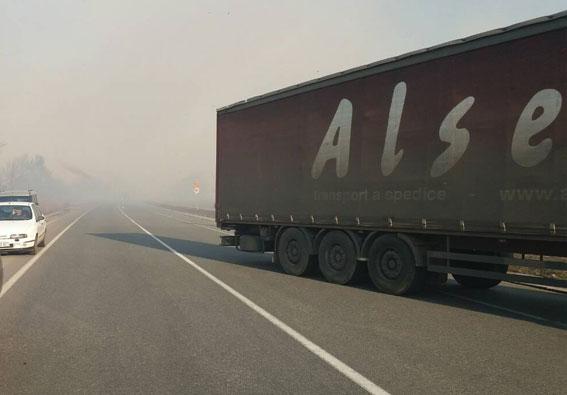 ВПолтавской области назадымленном участке дороги случилось столкновение 7-ми авто