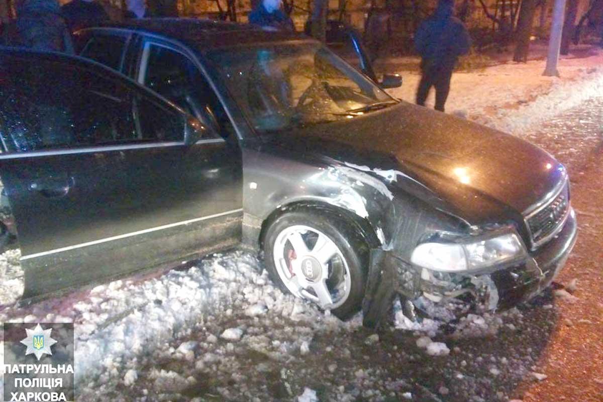 Пьяный водитель пытался скрыться от копов и въехал в дерево (ФОТО)