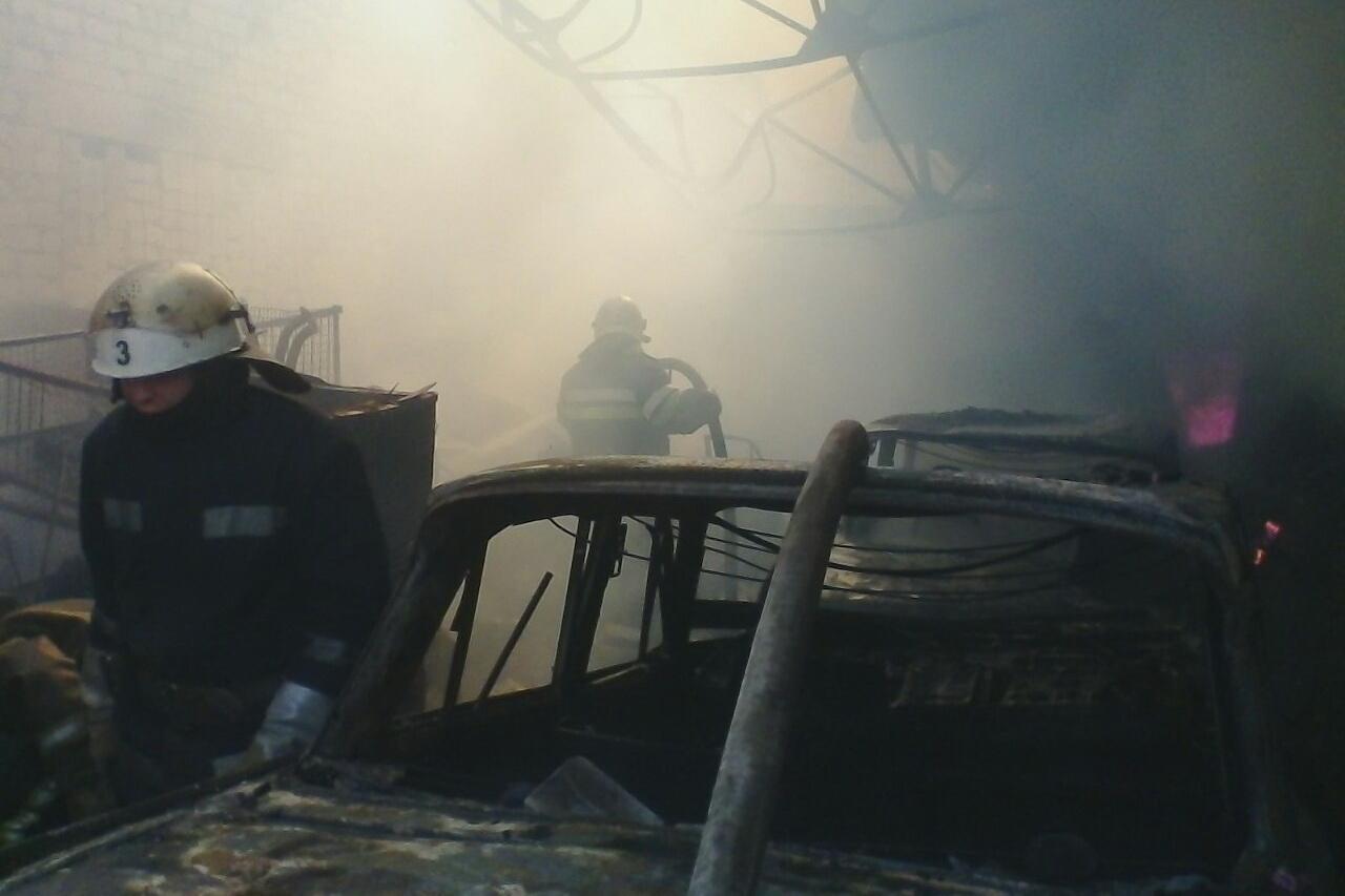пожар гараж фото
