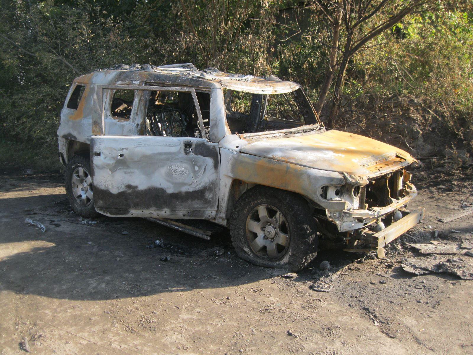 НаХарьковщине внедорожник уничтожили изгранатомета