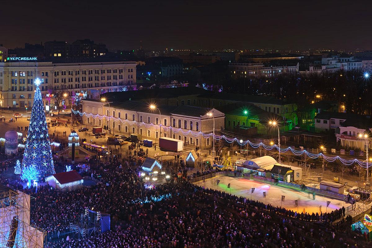 Картинки по запросу площадь свободы в харькове новый год
