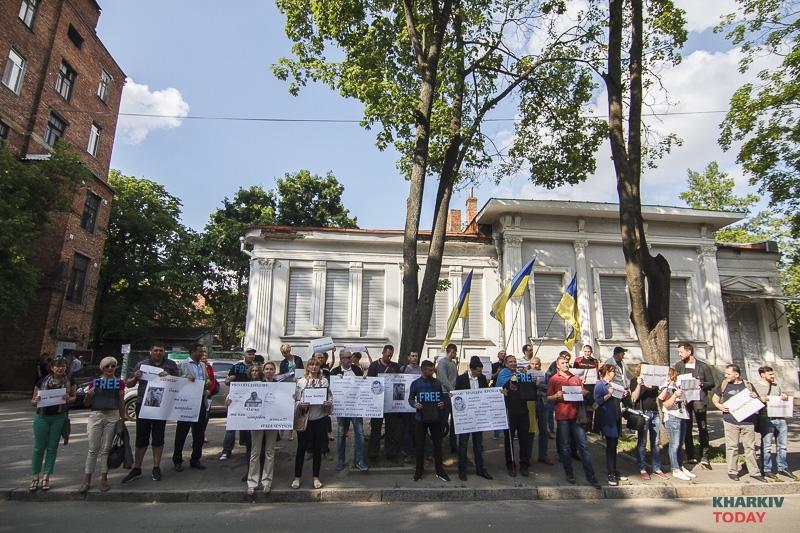 ВКиеве устроили необычную акцию протеста против Российской Федерации