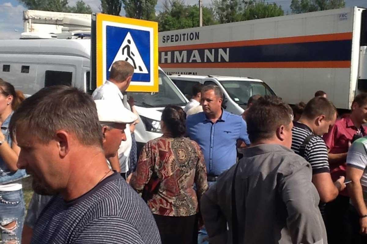 Под Харьковом прошла акция протеста - харьковские новости Status quo 9967ef5e968