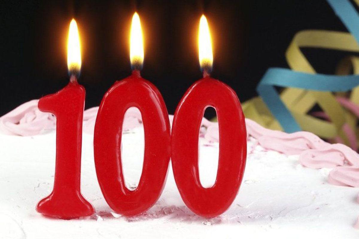 Открытки к 100-летнему юбилею, поздравления